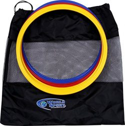 World Sport Set of 12 15 Inch Speed Rings (4 Red / 4 Yellow / 4 Blue)