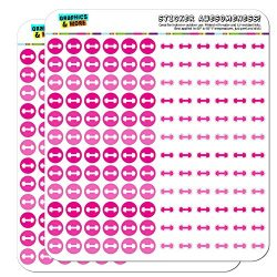 Dumbbell Exercise Weight Lifting Loss Workout Dots Planner Scrapbooking Crafting Stickers – ...