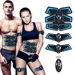 SHENGMI Muscle Toner, Abdominal Toning Belt Abs Trainer Body Fitness Belt Ab Workout Machine for ...