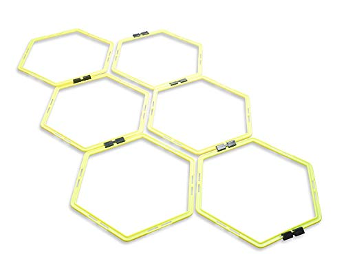 Unlimited Potential Hexagonal Speed & Agility Training Rings Tennis Soccer Football Basketba ...