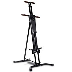 GYMAX Step Machine, Folding Stepper Vertical Climber Climbing Machine, for Workout Fitness Cardi ...