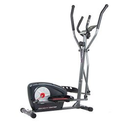 Body Champ New Elliptical Machine Trainer Magnetic Smooth Quiet Driven with LCD Media Holder Mon ...