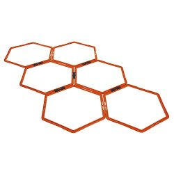 Yes4All Hexagonal Agility Rings with Carrying Bag – Speed Rings, Agility Hurdles for Agili ...