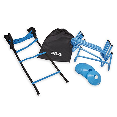 FILA Accessories Agility Kit – Includes Agility Ladder, Agility Hurdles and Agility Discs