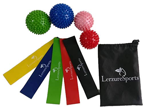 LerzureSports Exercise Bands Resistance, Workout Bands, Resistance Bands for Legs, Workout Resis ...