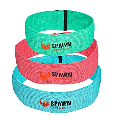 Spawn Fitness Fit Loop Resistance Cotton Latex Training Bands Targeting Legs Glutes Thighs for W ...