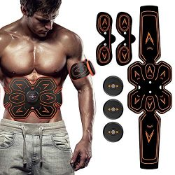 SHENGMI ABS Stimulator Muscle Toner Abdominal Toning Belt Workouts Portable EMS Training Home Of ...