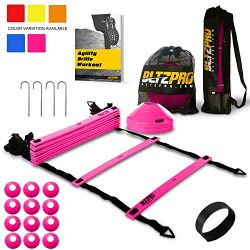 Bltzpro Agility Ladder Soccer Cones Kit- A Speed Training Equipment for Football and Team Sports ...