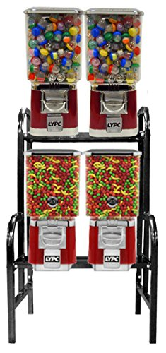 Pro Line 4 Unit Gumball Candy Machine with Step Stand