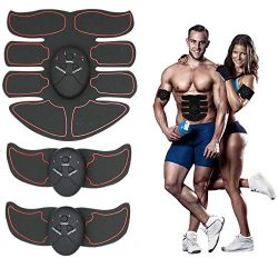 KINGSOO Abdominal Muscle Toner, 8 Pack Abdominal Trainer Smart Fitness Training Body Fit Toning  ...