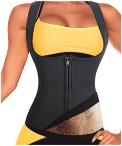 Rolewpy Women Sweat Neoprene Waist Trainer Hot Slimming Sauna Vest Tummy Control Body Shaper for ...