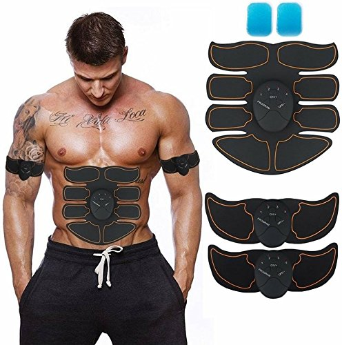 Muscle Toner, Abdominal Toning Belt EMS ABS Toner Body Muscle Trainer Wireless Portable Unisex F ...