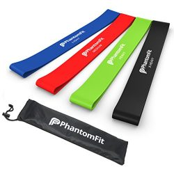 Phantom Fit Resistance Loop Bands – Set of 4 – Best Fitness Exercise Bands for Worki ...