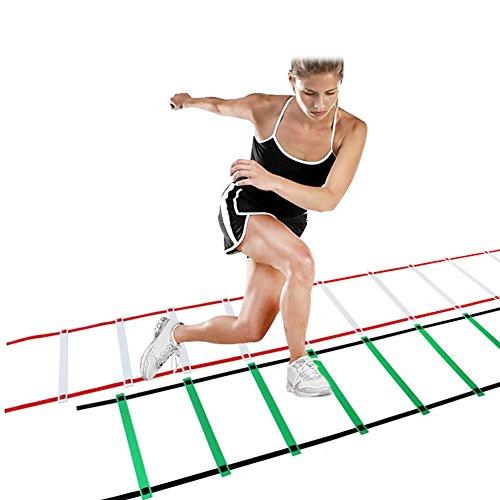 EDTara Training Ladders Nylon Straps Agility Speed Ladder For GYM Soccer Sports Speed Exercise T ...