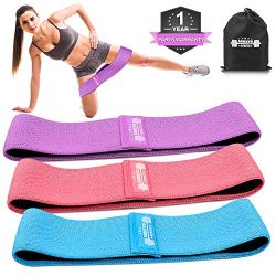 Resistance Bands for Legs and Butt, Exercise Bands Hip Bands Yoga Fitness Sports Hip Booty Bands ...