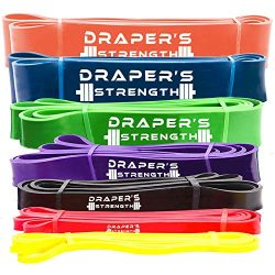 Draper's Strength Heavy Duty Pull Up Assist and Powerlifting Stretch Bands Add Resistance  ...