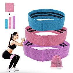 Booty Resistance Workout Hip Exercise Bands, Fitness Loop Circle Exercise Legs and Butt- Activat ...