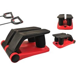 INTBUYING Air Stepper Climber Fitness Machine Resistant Cord Air Step Aerobics Machine with CD E ...