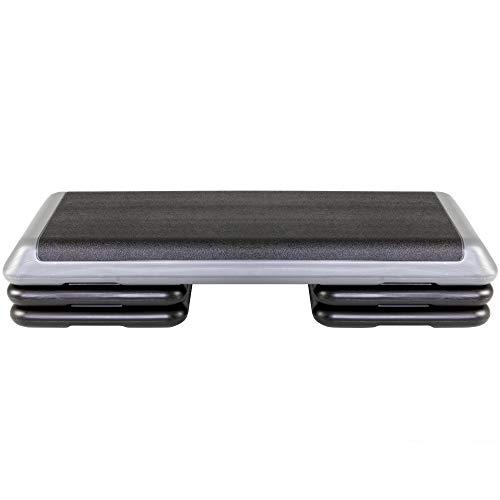 The Step Original Aerobic Platform for Total Body Fitness – Health Club Size with Grey Platform  ...