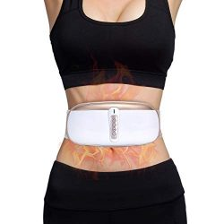 OWAYS Slimming Belt, Adjustable Vibration Massage with Mild Heat, 4 Massage Modes for Weight Los ...