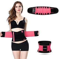 Jueachy Waist Trainer Belt for Women, Breathable Sweat Belt Waist Cincher Trimmer Body Shaper Gi ...
