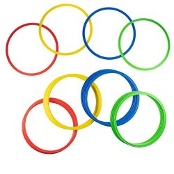 Juvale 24-Pack Speed and Agility Training Rings for Trainers, Gyms, Athletics, 4 Assorted Colors ...