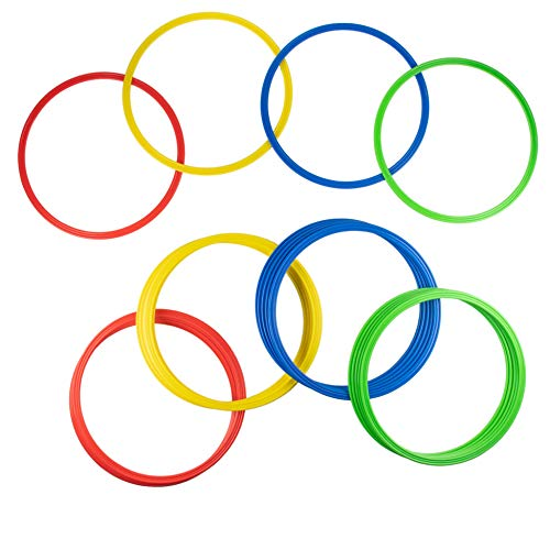 Juvale 24-Pack Speed and Agility Training Rings forTrainers, Gyms, Athletics, 4 Assorted Colors ...