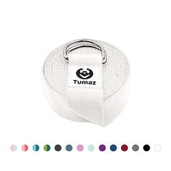 Tumaz Yoga Strap with Adjustable D-Ring Buckle (6ft/8ft/10ft, Many Stylish Colors) – Best  ...