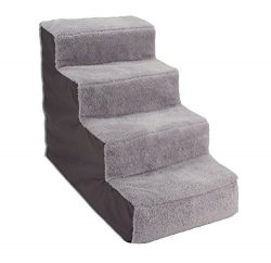 Dallas Manufacturing Co. 4 Step Home Décor Pet Steps, Gray