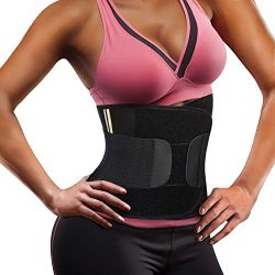 Wonderience Women Waist Trainer Corset Neoprene Sauna Sweat Belt Slimming Body Shaper for Weight ...