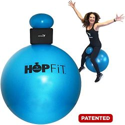 Empower HOPFiT Exercise Ball, Fun Low-Impact Total-Body Workout, Includes Pair of Weighted Glove ...