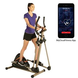 Exerpeutic 2000XL Bluetooth Smart Cloud Fitness High Capacity Elliptical Trainer with Goal Setti ...