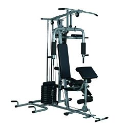 Soozier Complete Home Fitness Station Gym Machine w/ 100 lb Stack