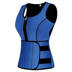 Mpeter Sweat Vest for Women, Slimming Body Shaper, Weight Loss (Large, Blue)