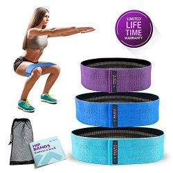 MAXFIT Athletica Hip Resistance Bands-Booty Circle Loops to Activate Leg & Butt- Premium Hip ...