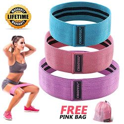 Resistance Bands for Legs and Butt, Exercise Band Yoga Fitness Sports Hip Booty Loop Bands for P ...