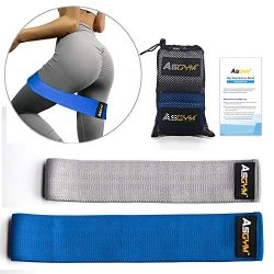 Asgym Booty Resistance Bands for Legs and Butt, Non-Slip Thick Elastic Band Exercise, Heavy Fabr ...