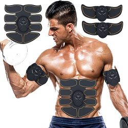 OQWM Abs Stimulator Abdominal Trainer Ultimate Abs Stimulator Ab Stimulator for Men Women Work O ...
