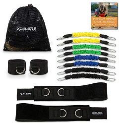 DYNAMX TRAINER: Speed and Agility Training Leg Resistance Bands for All Sports & Exercise Fi ...