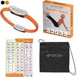 Mantra Sports Pilates Ring Magic Fitness Circle – Exercise Resistance Equipment for Toning ...