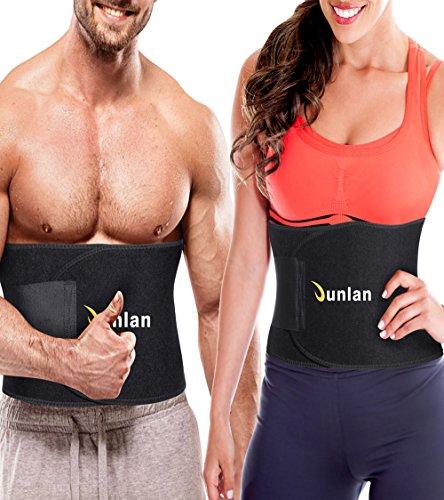 Junlan Workout Waist Trainer Weight Loss Trimmer Belt Corset Exercise Body Band Gym Sauna Sweat  ...