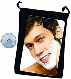 Fog Free Travel Shower Mirror ~ Fogless Shaving On The Go ~ Anti Fog ~ Great No Fog Mirror for H ...
