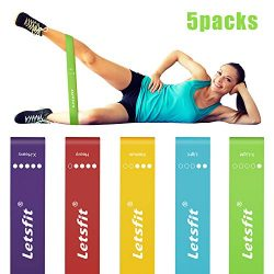 Letsfit Resistance Loop Bands, Resistance Exercise Bands for Home Fitness, Crossfit, Stretching, ...