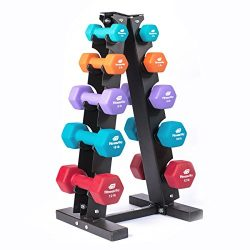 Fitness Alley Steel Dumbbell Rack – 5 Tier Weight Holder & 5 Tier Weight Rack Dumbbell ...
