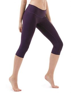 TSLA TM-FYC21-DVT_Medium Yoga 17″ Capri Mid-Waist Pants w Hidden Pocket FYC21