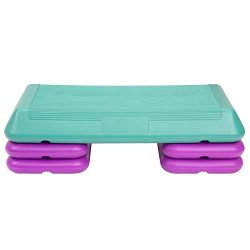 The Step Original Circuit Size Aerobic Platform with Grey Nonslip Platform and Four Original Bla ...