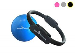 HomeFit Essentials Premium Pilates Ring – Fitness Resistance Magic Circle & 9 Inch Exe ...