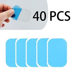 40pcs Gel Sheets Replacement for Gel Pad Muscle Trainer Abdominal Toning Belt EMS ABS Toner Body ...
