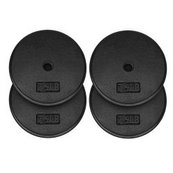 Yes4All 1-inch Cast Iron Weight Plates for Dumbbells – Standard Weight Plates (Combo 7.5lb x 4pcs)