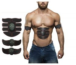 GGTECH Abdominal Muscle Toner, Abdominal Toning Belt ABS Portable Body Trainer 6 Modes & 10  ...